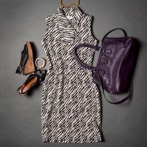 Calvin Klein Zebra Print Dress